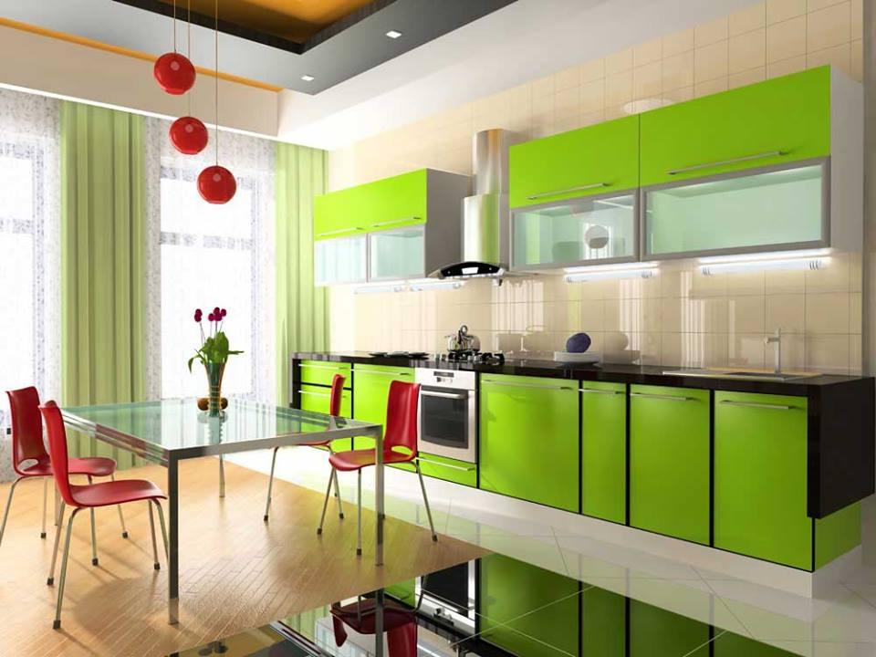 Iti place verde in bucatarie? Vezi alte imagini cu amenajari superbe
