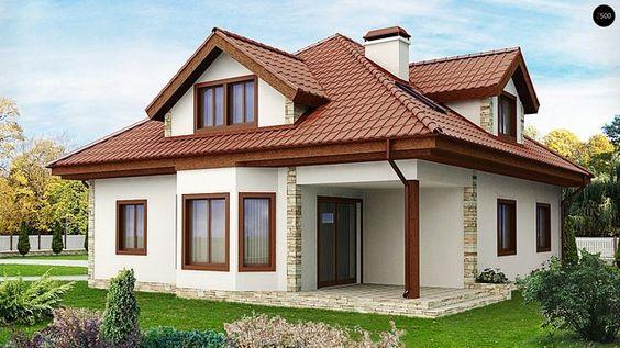 Modele deosebite de fatade de case mici. Imagini de colectie