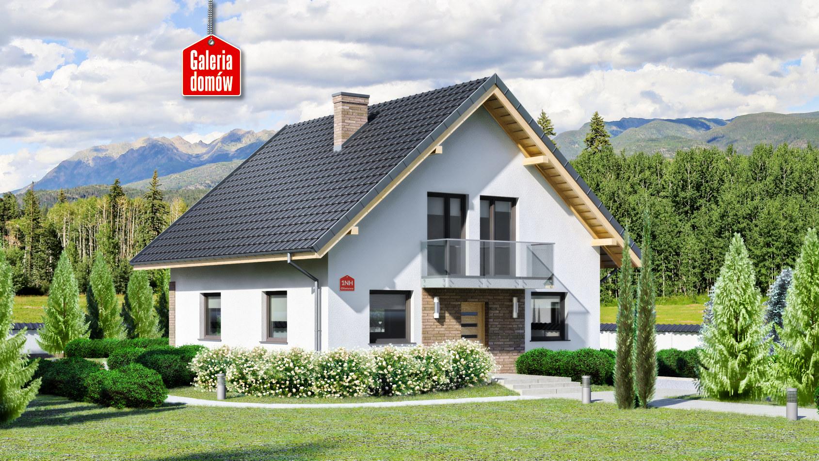 O superba casa cu mansarda de 130 mp. Vezi proiectul complet
