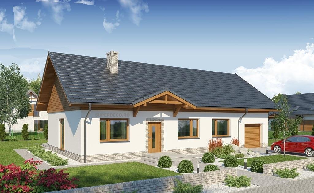 Proiect economic: casa doar cu parter si garaj construibila cu 50 mii euro